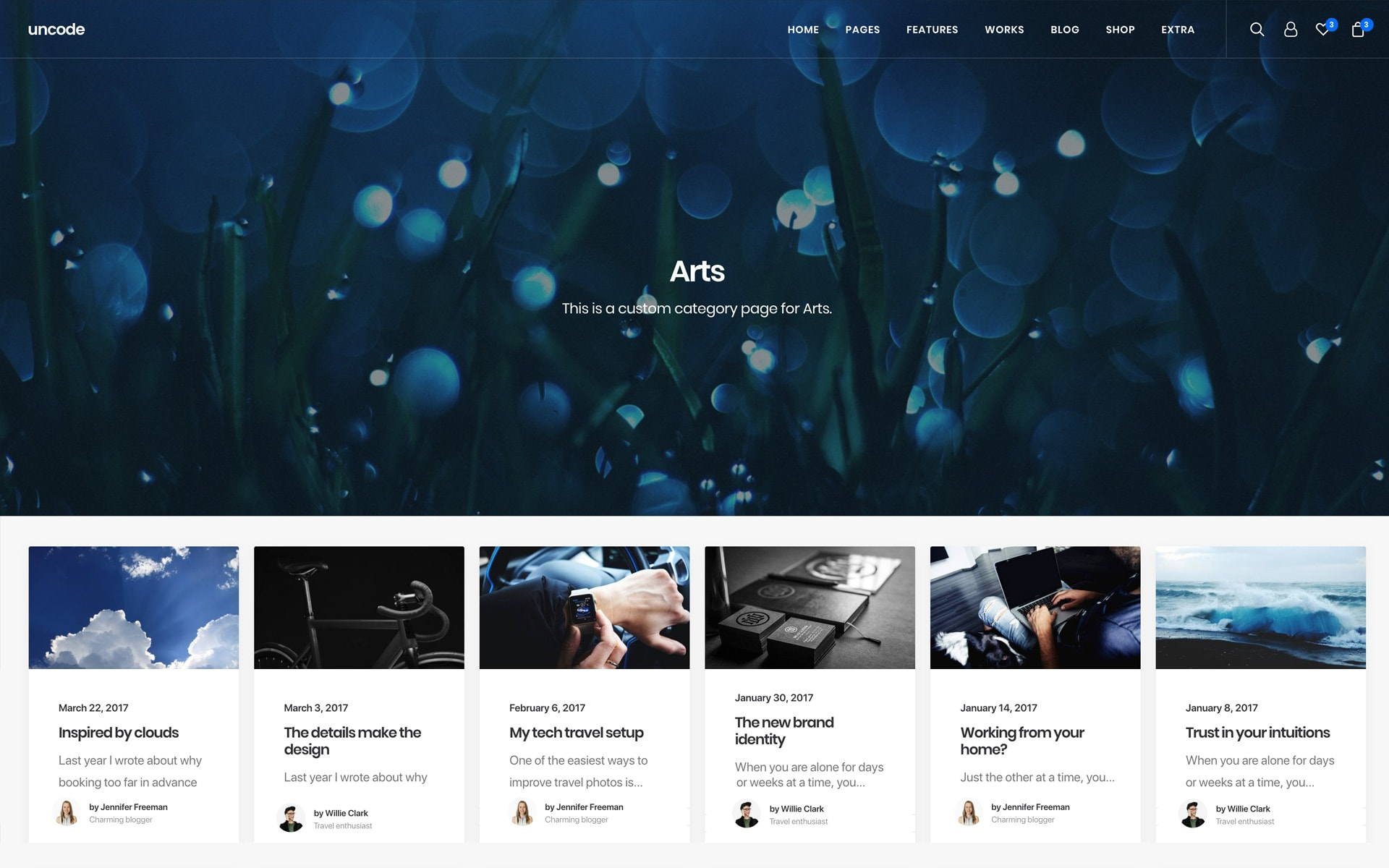 Categories and archives layouts – Uncode Theme   Documentation and ...
